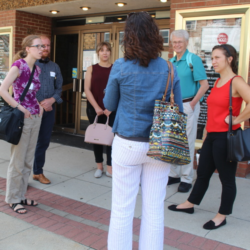 Planning students visit downtown Webster City